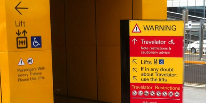 Brisbane Airport Directional Signage