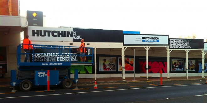 Hutchin Builders construction signage Queensland