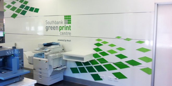 South Bank Green Print Centre Signage