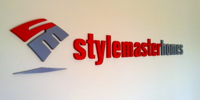 Style Master Homes laser cut 3D reception signs Brisbane